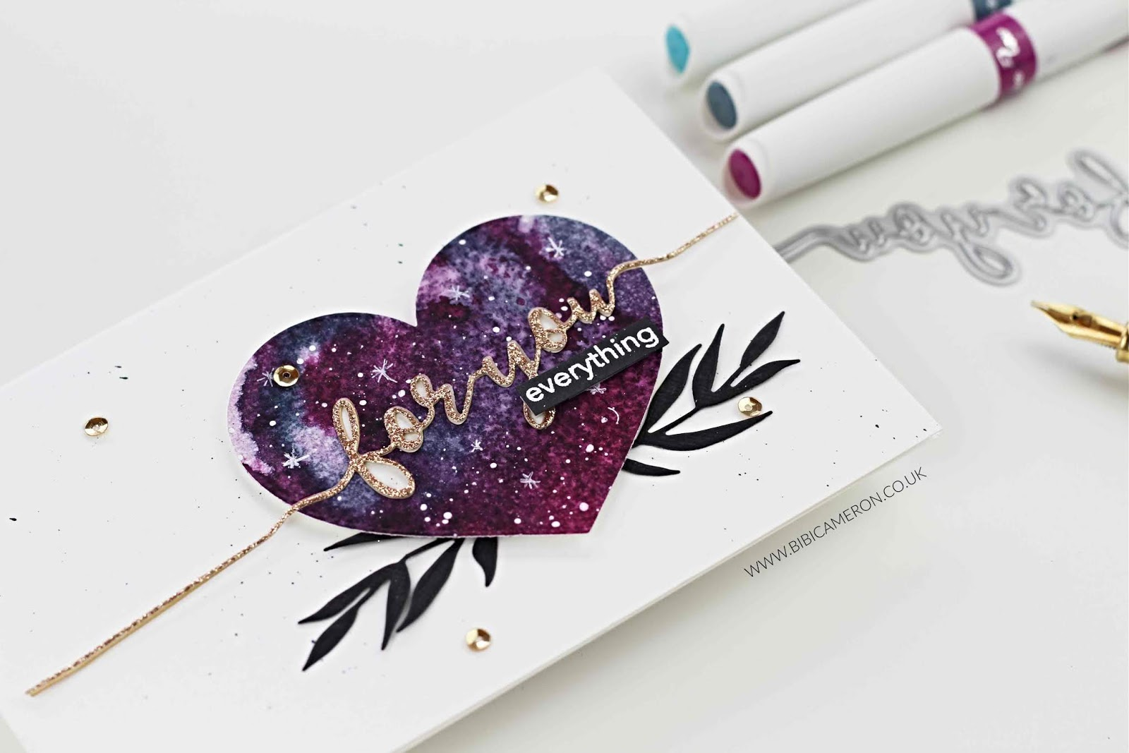 New Nuvo Aqua Flow Pen colours | Galaxy Love Card