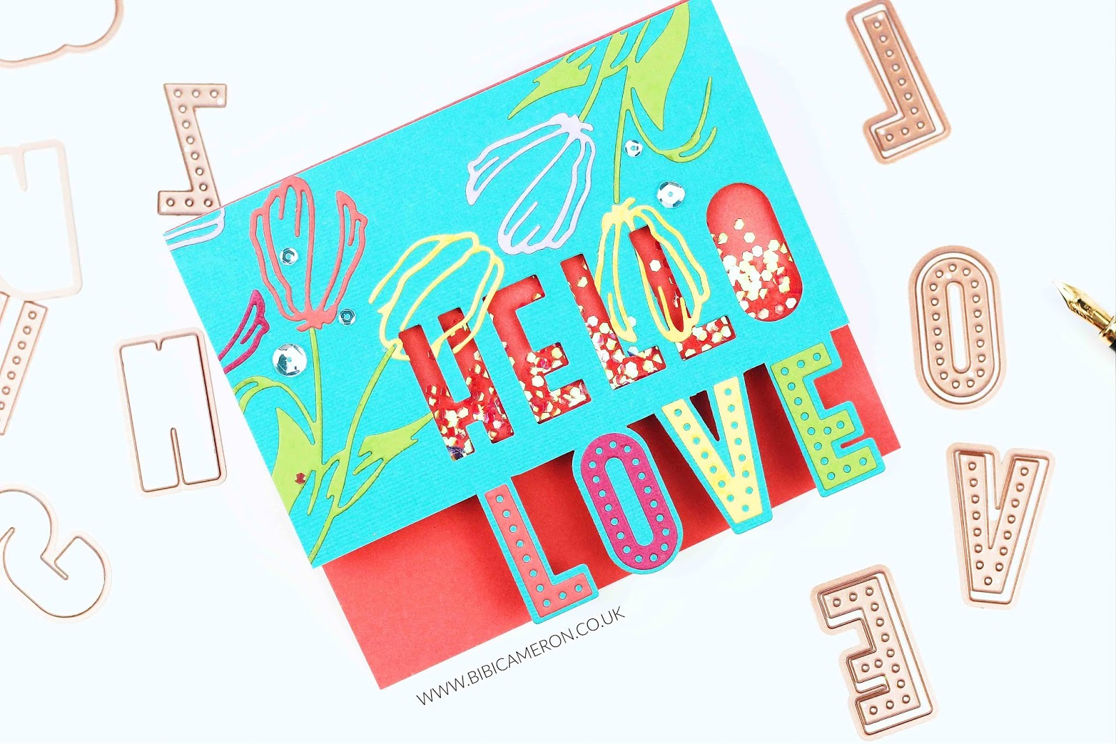 Spellbinders Large die of the month – July 2018  | 50 PCS Alphabet die set