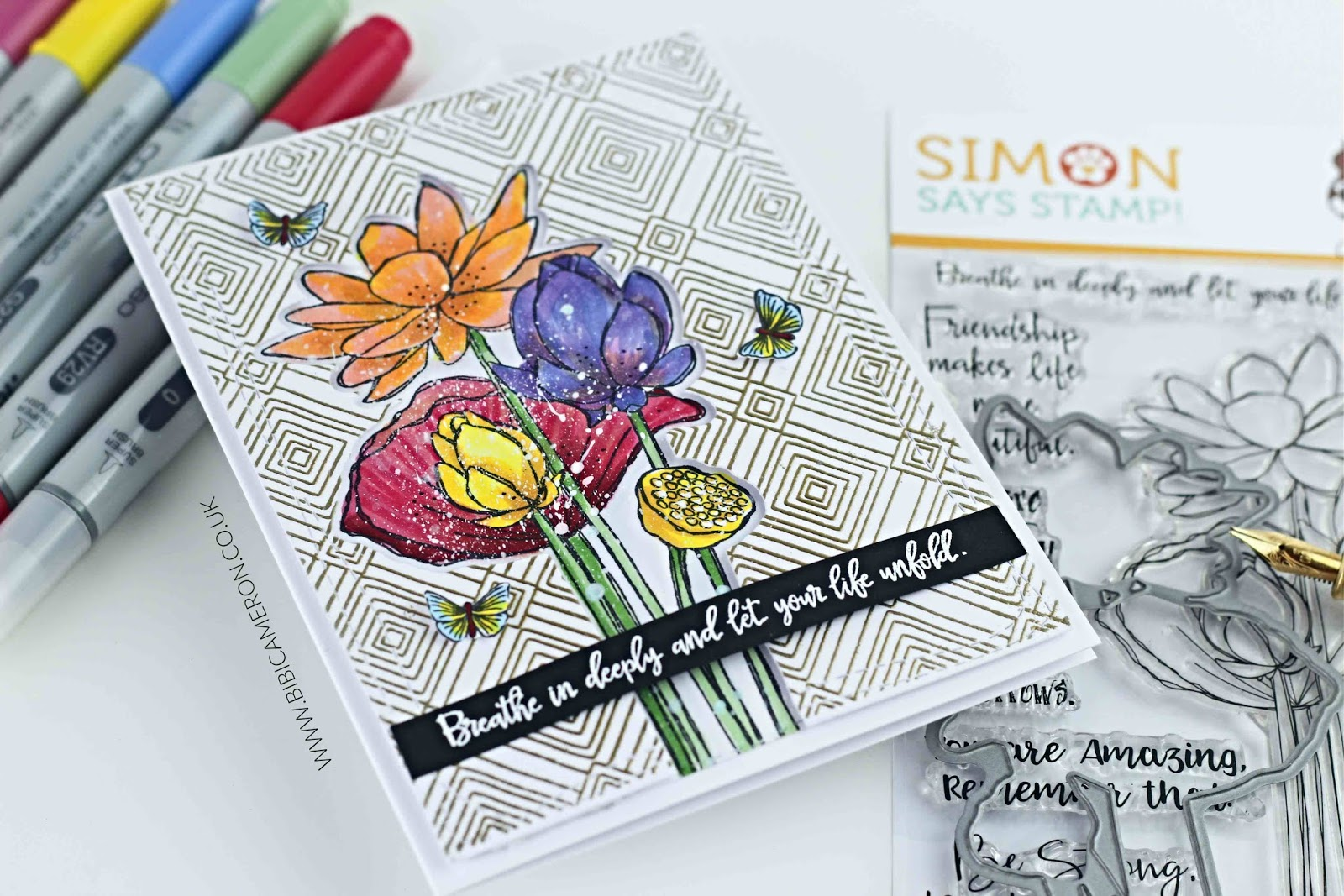 Sketch Lotus Flowers  Simons Says Stamps #sssfriendlyfrolic