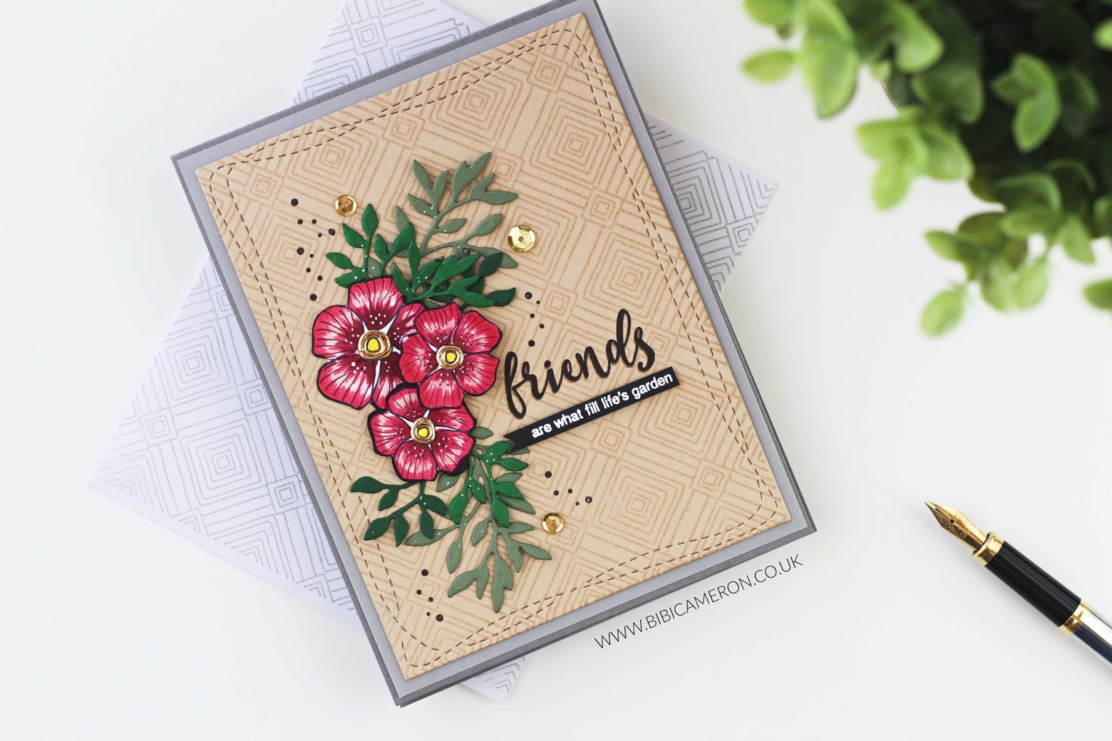 Friends of Life and Deco Diamond Background by Simon Says Stamp Supplies