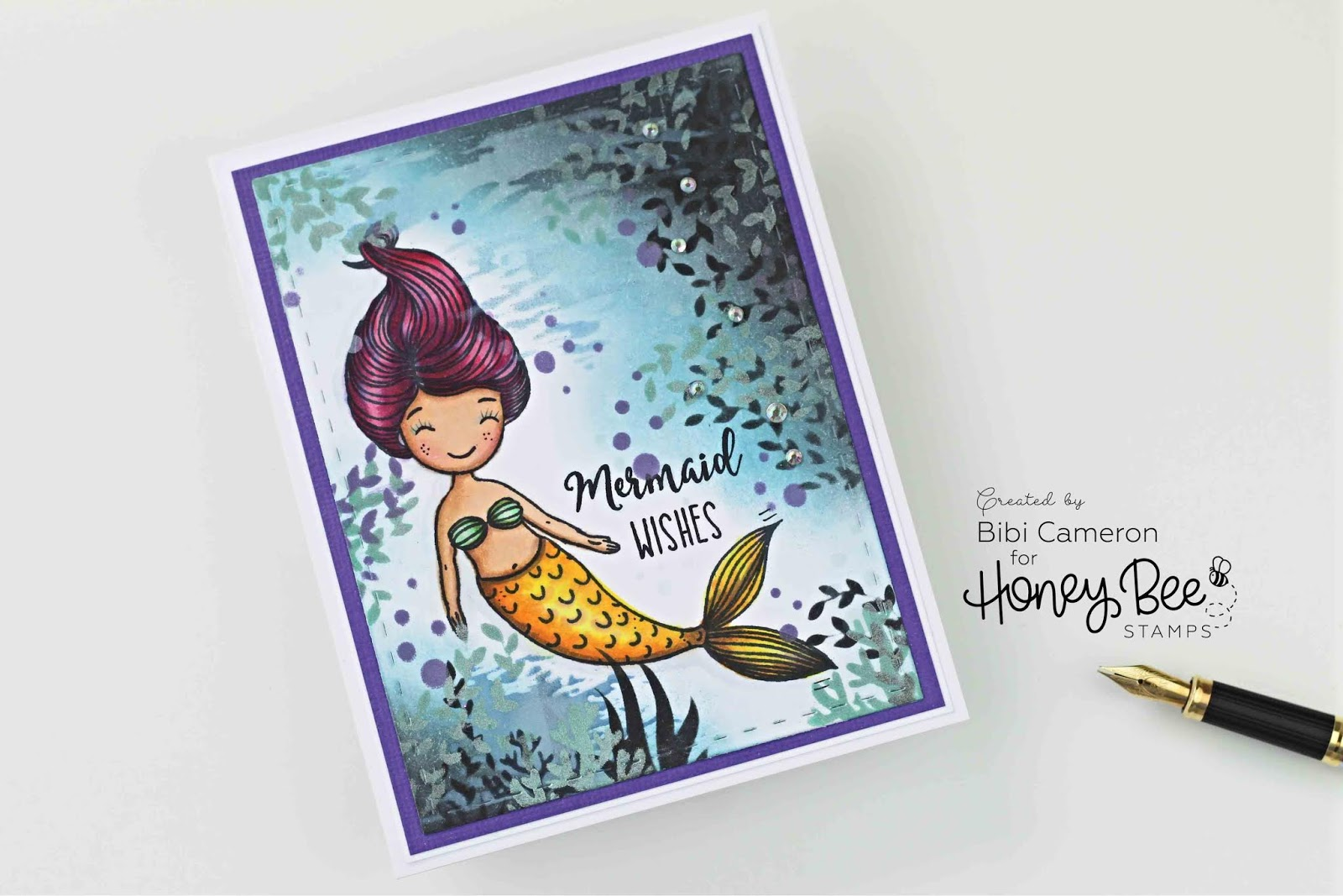 Mermaid Wishes with Honey Bee Stamps