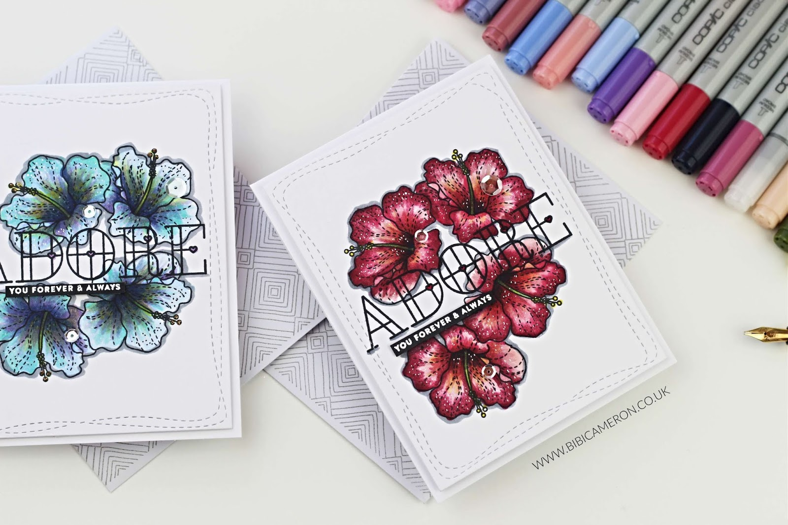 Copic Colouring +  Summer Flowers by Simon Says Stamp