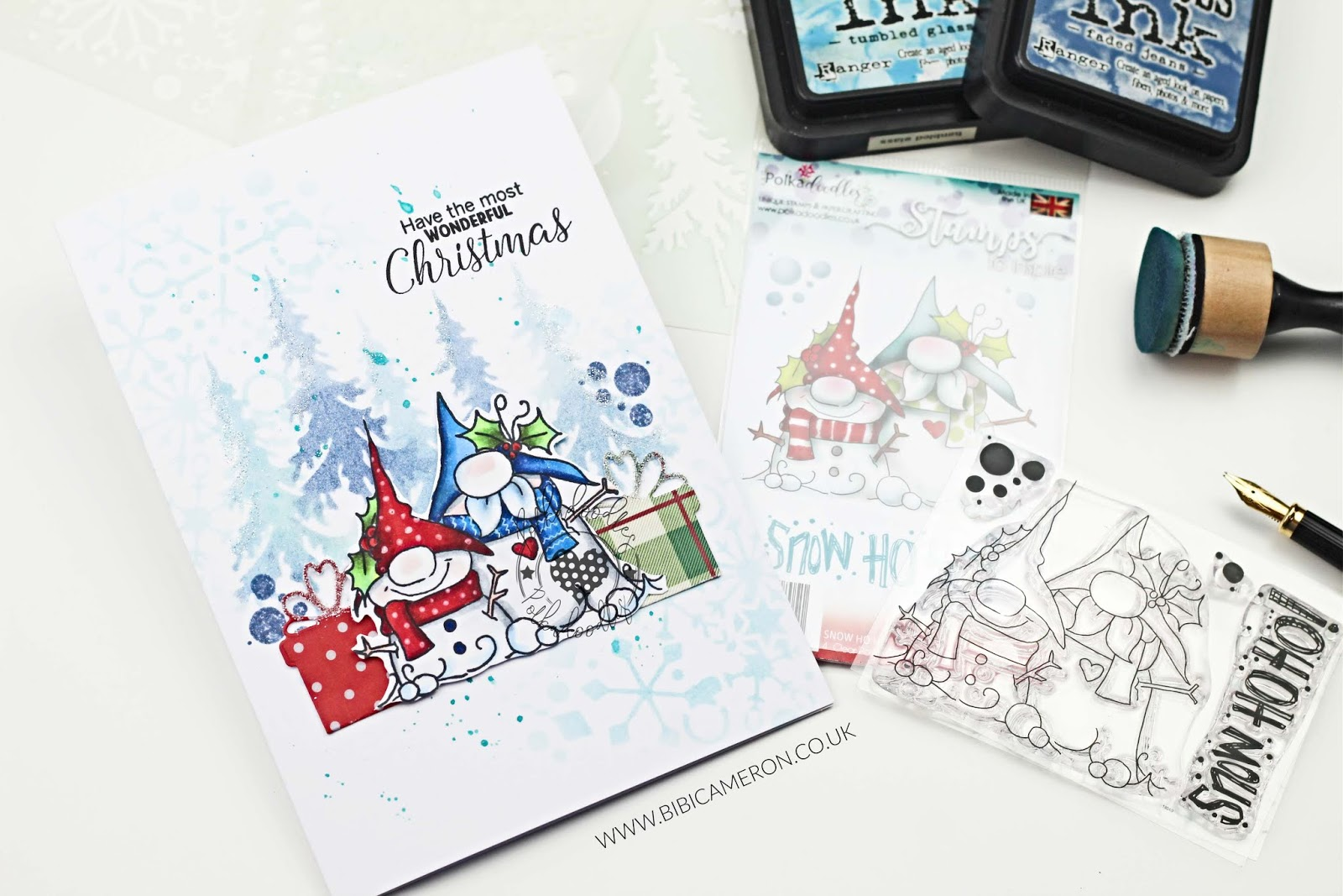 New Polkadoodles Xmas Release | Snow Ho Ho ! Stamp Set