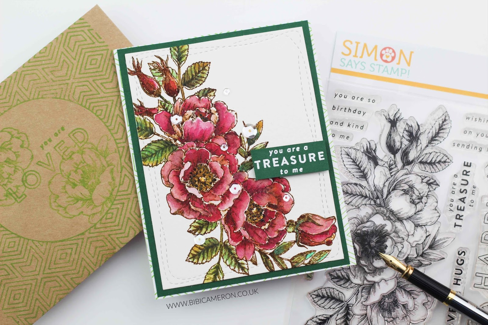 Beautiful Flowers by Simon Says Stamp!