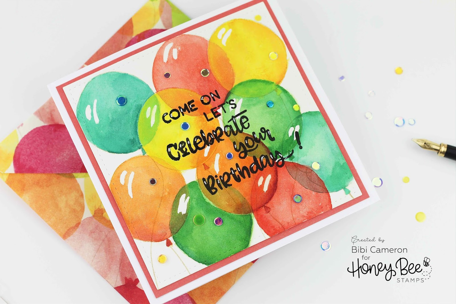STAMPTEMBER® Honey Bee Stamps | Watercolour Balloons