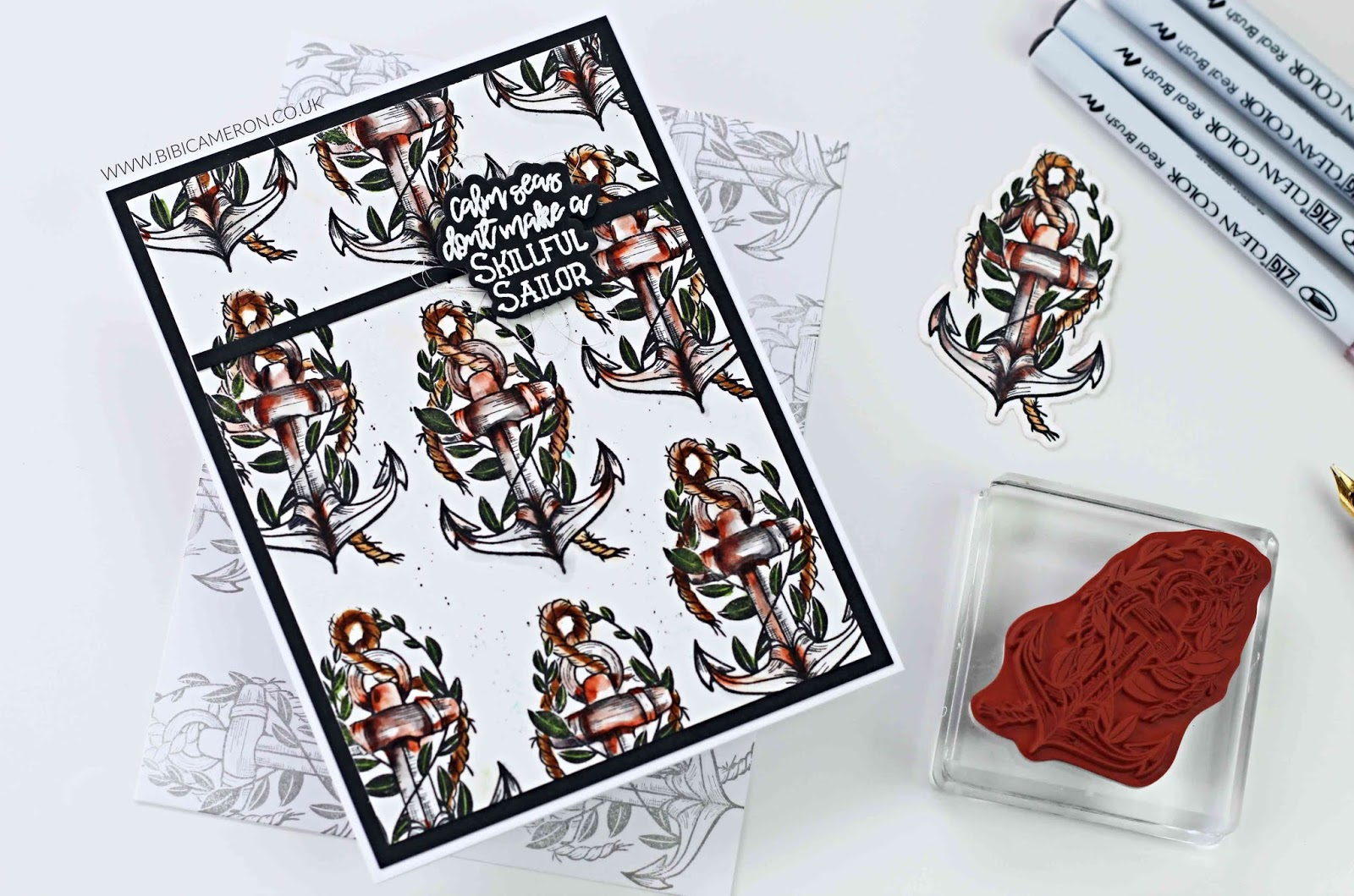 Masculine Card ideas with  Rough Waters Stamp and Die Set   Spellbinders