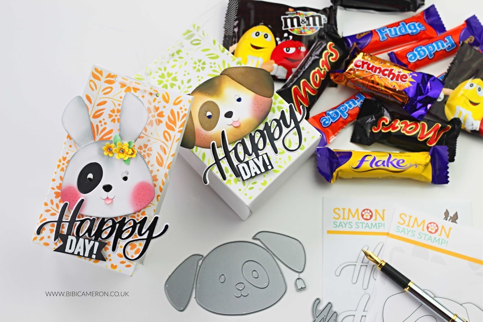 Creepy – Cute  Halloween Treat Bags with Big Picture Book Puppy by Simon Says Stamps
