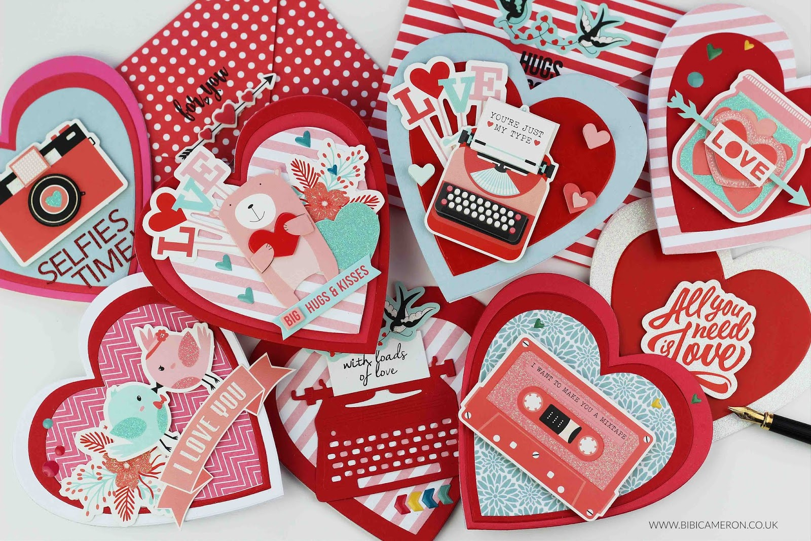 11 Valentine's cards ideas + Spellbinders Card Kit of the Month Jan 2019