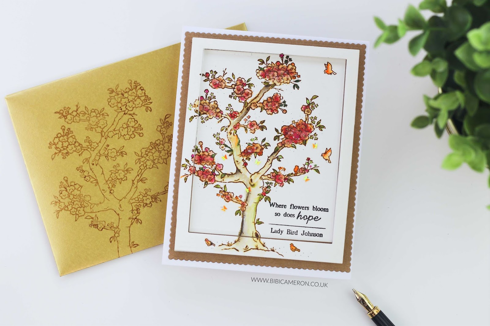 Where Flowers Bloom so does Hope | Blossoming Stamp Set by Simon Says Stamp