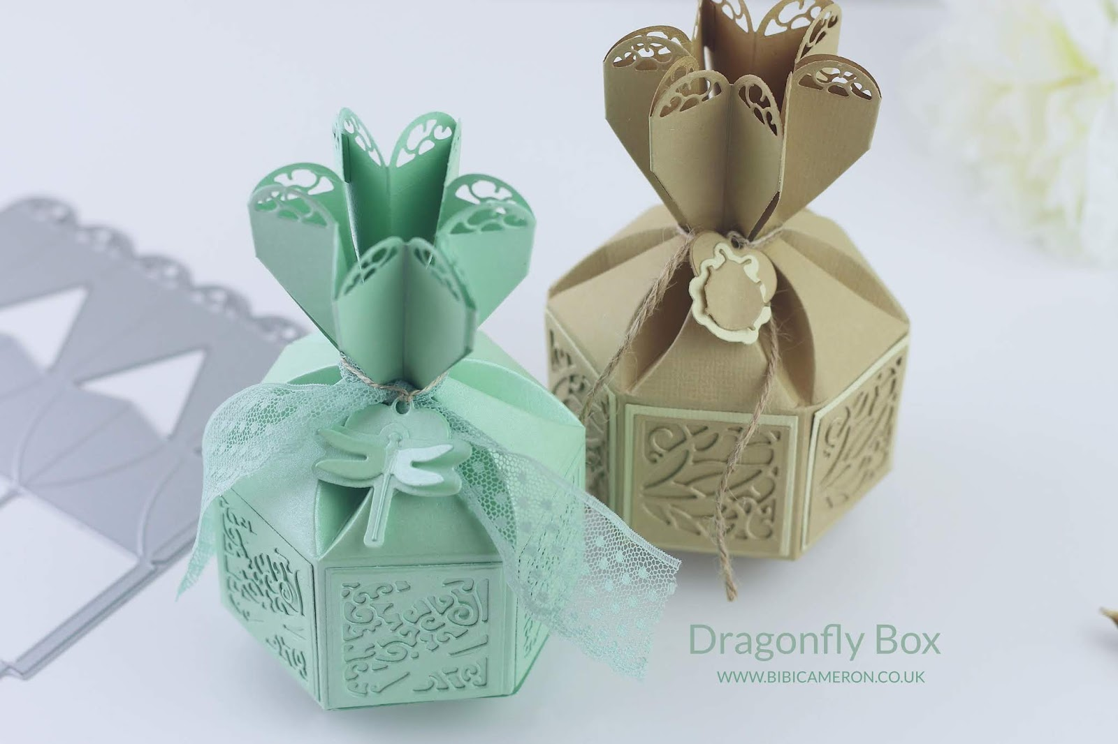 Tonic Studios Craft Kit #20 Video | Dragonfly Hexagonal Box