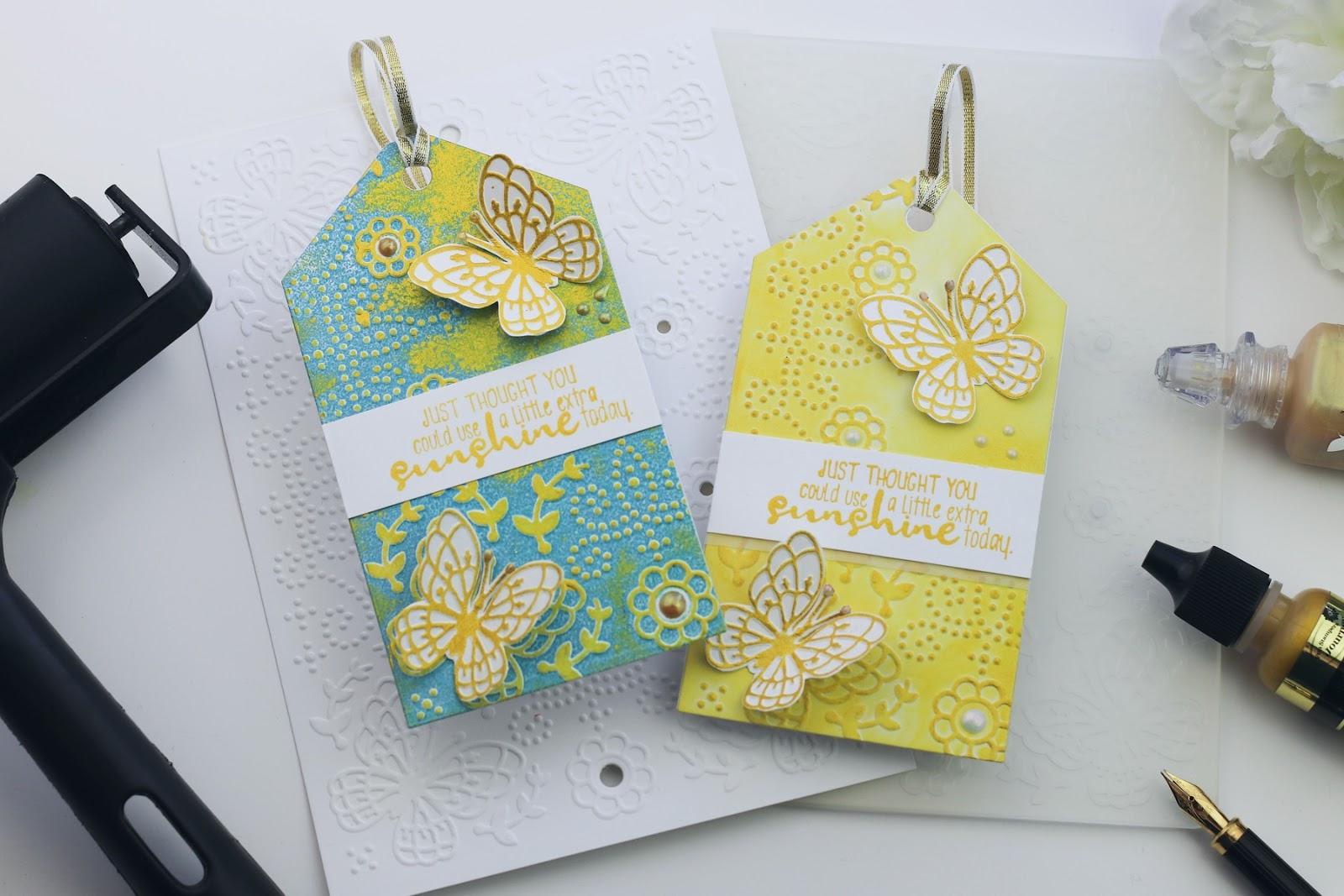 New Cut & Embossed folders by Spellbinders   brayered backgrounds