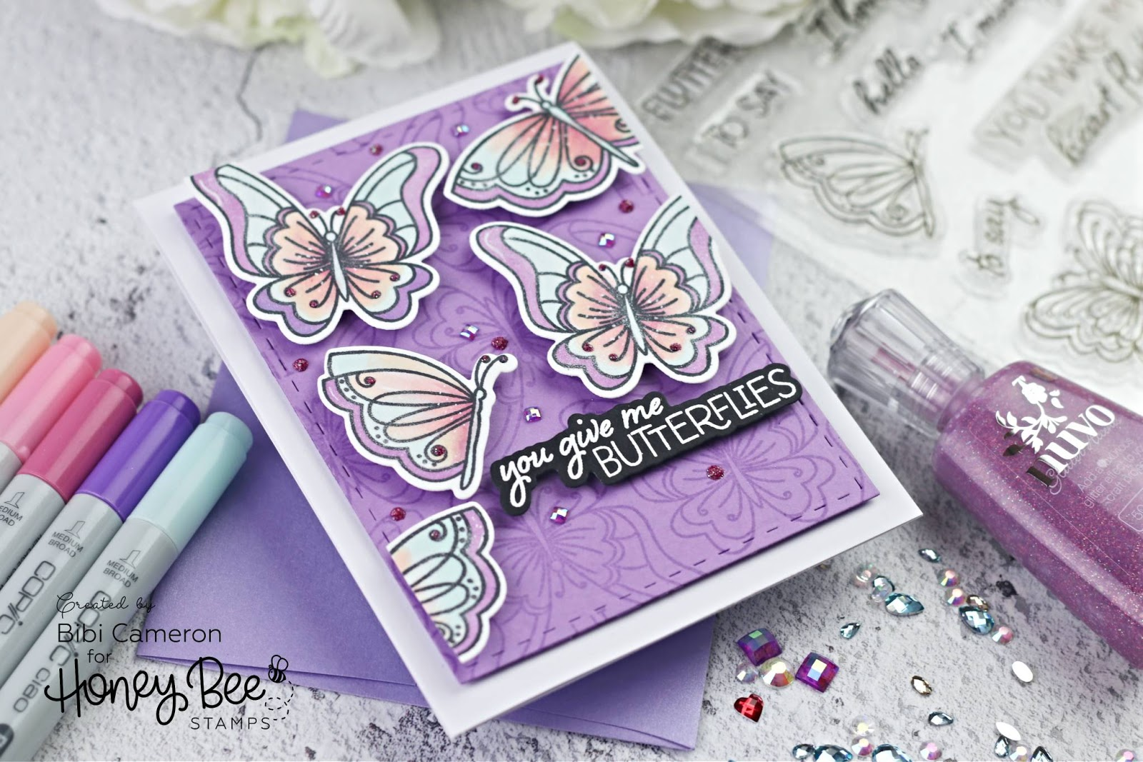 Fluttering By Butterflies Stamp Set by Honey Bee Stamps