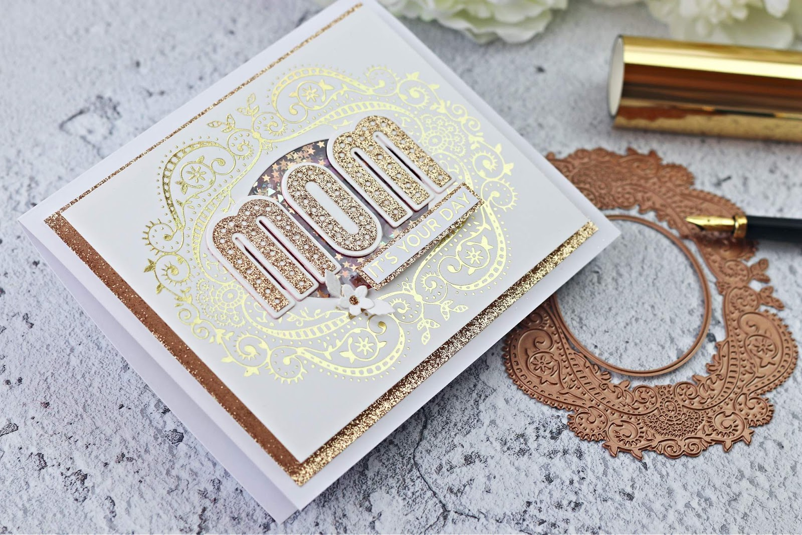 HAPPY MOTHER'S DAY + SPELLBINDERS GLIMMER HOT FOIL KIT OF THE MONTH
