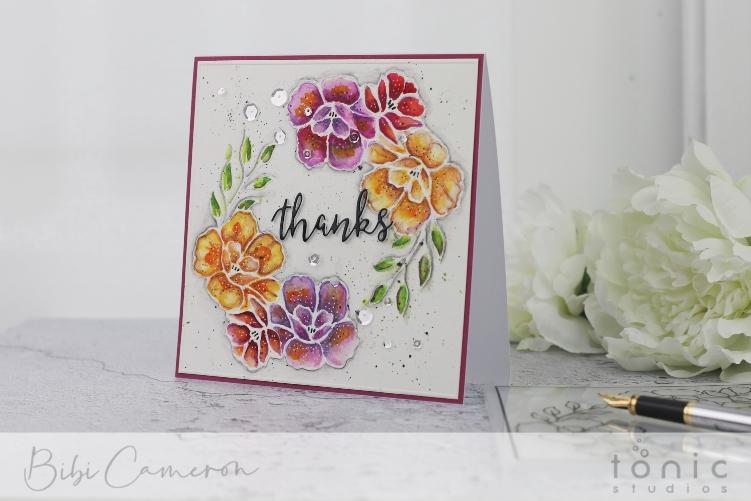 Watercoloring and  Embossing Folders   Beautiful Blossom Embossing Folder by Tonic Studios