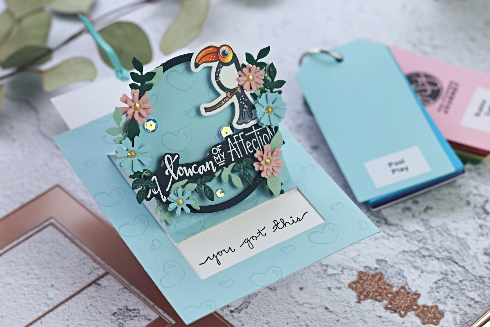 3-minute Slider Card  with Spellbinders Large die of the month – June 2019