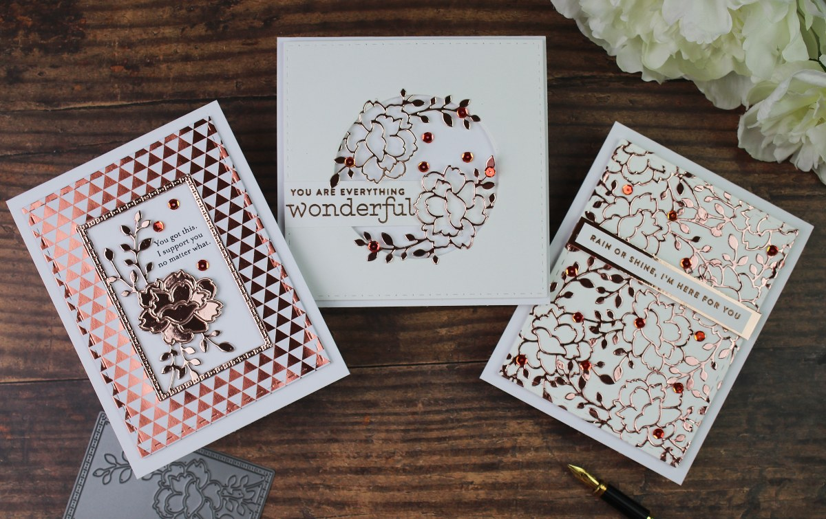 Simon Says Stamp Believe in You  Blog Hop – Day 2 | Carnation Frame Die + Foiled Cardstock