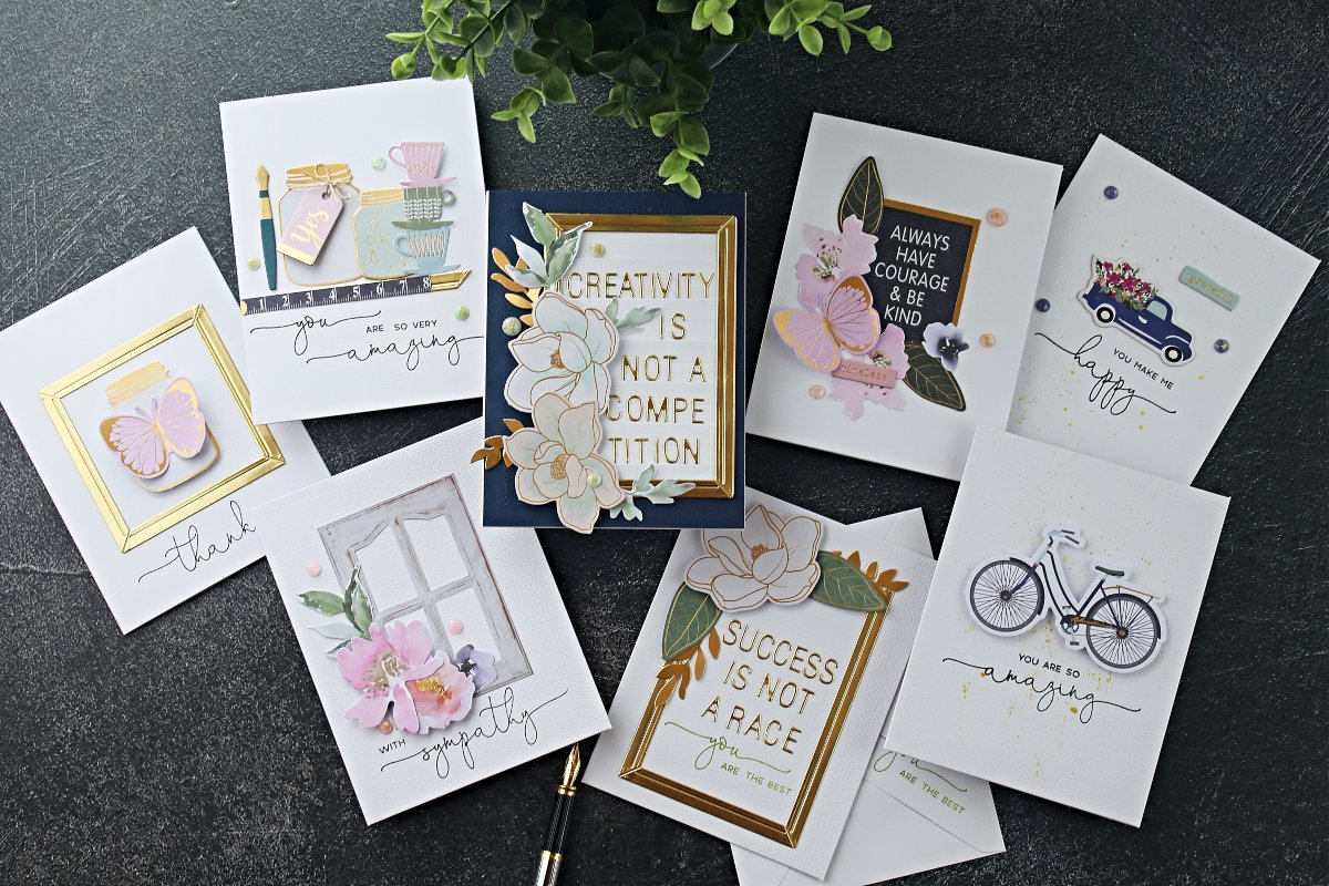 Spellbinders Craft Kit of the Month September 2019   2- minutes card ideas