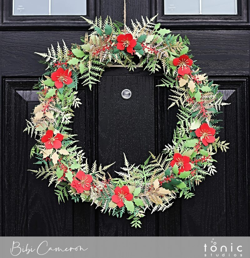DIY Paper Christmas Wreath |  Susan's Garden Die Collection