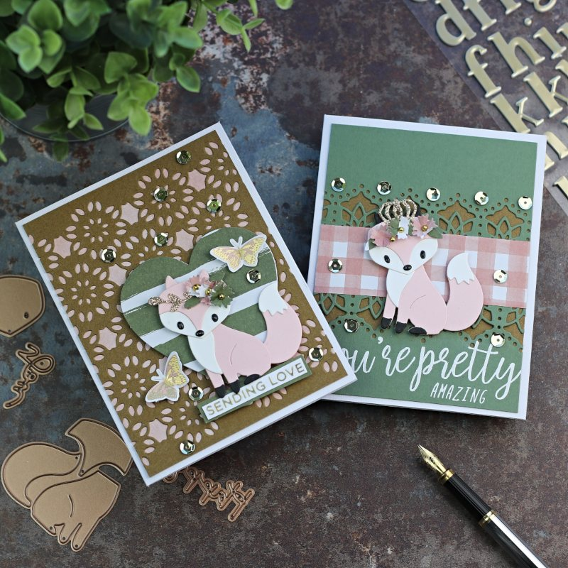 Hey Foxy Spellbinders Kit of the Month December 2019 Inspiration