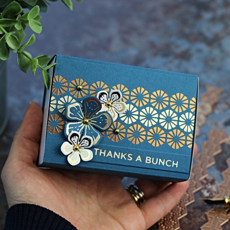 Foiled Matchboxes | Spellbinders Glimmer Hot Foil Kit December 2019