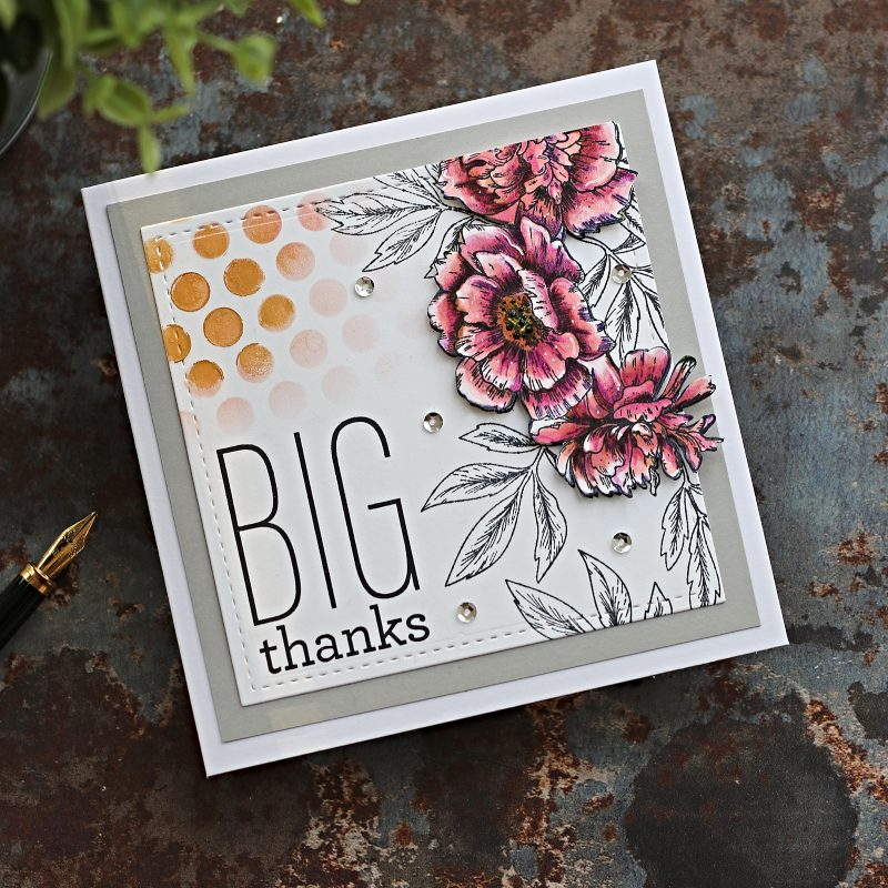 Big Thanks and Happy 2020 | Beautiful Flowers by Simon Says Stamp