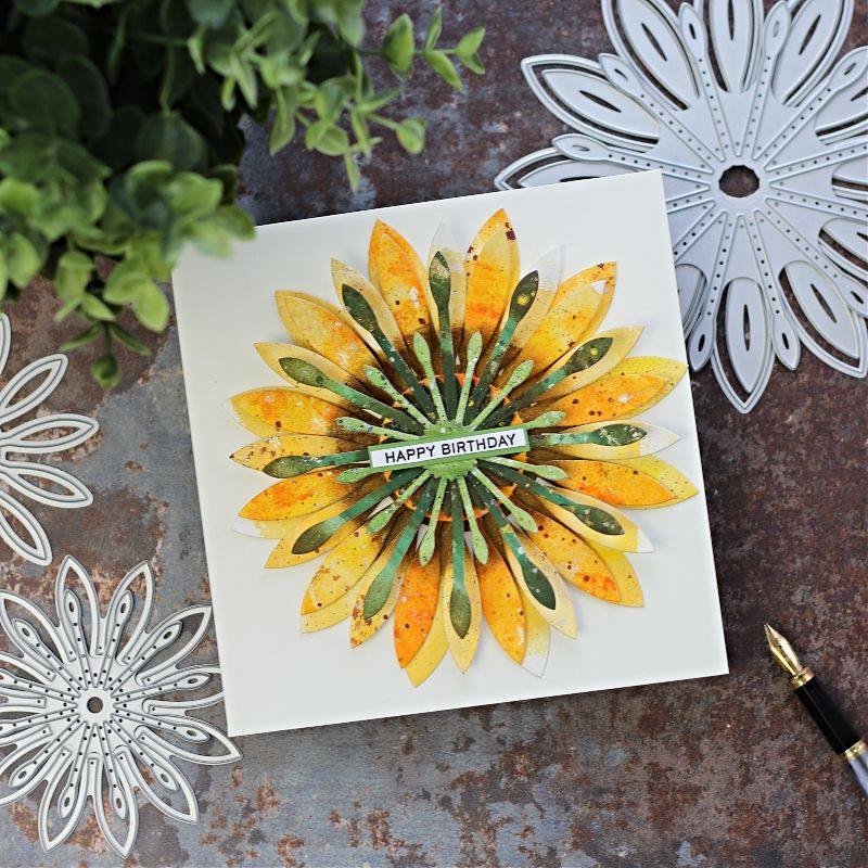Massive Floral Dies by Bright Rosa  For Card Toppers  Borders, Bands and Pop Ups