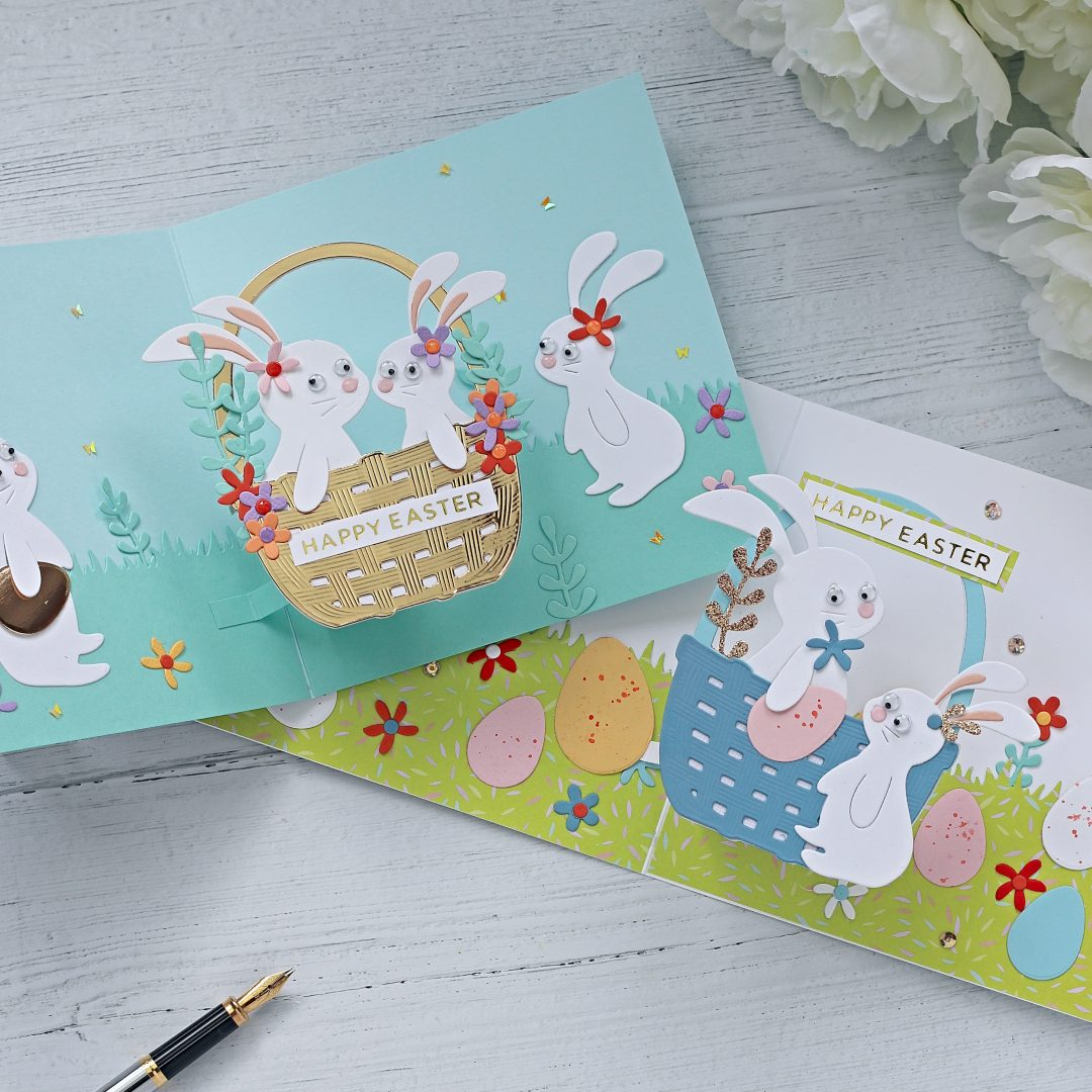 Pop -Up  Floating Plane Easter Cards | Spellbinders Large Die of the Month March 2020