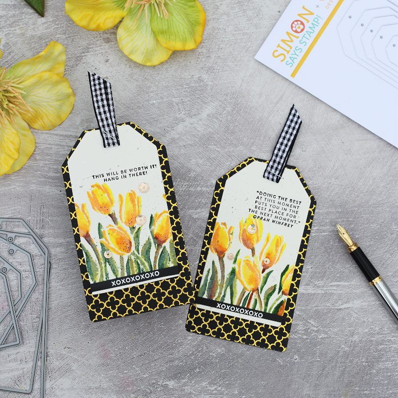 Encouragement Tags with Layered Tulips by Simon Says Stamp