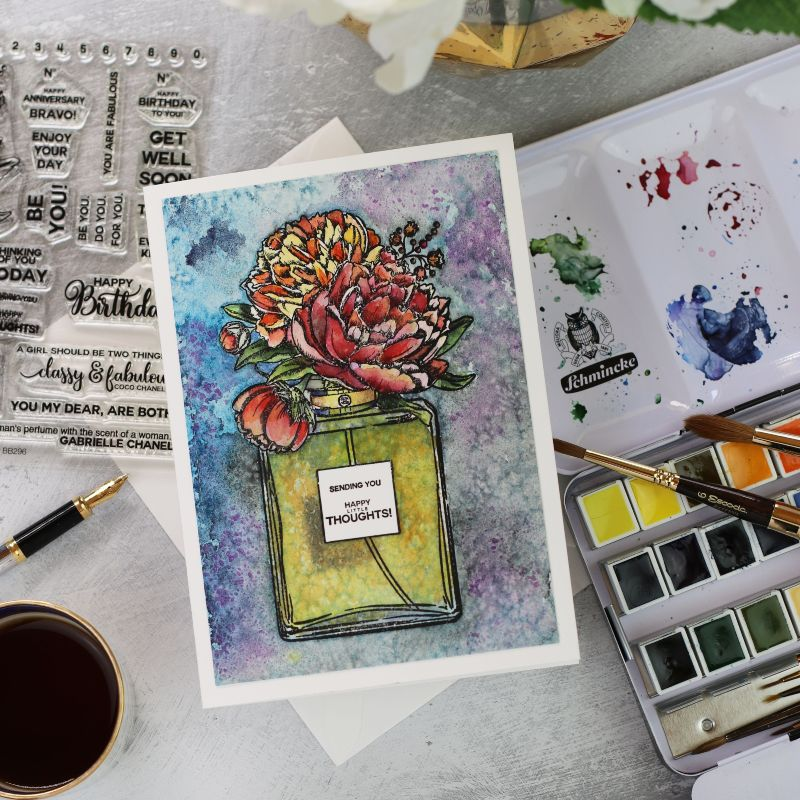 Perfume Bouquet by Colorado Craft Company | Salt  Watercolour Background