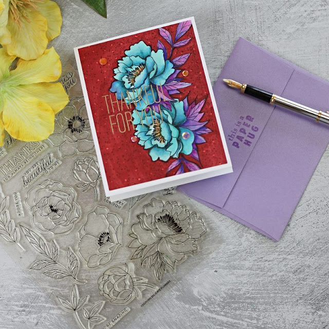 Delicate Florals by Simon Says Stamp and Arteza Everblend Markers