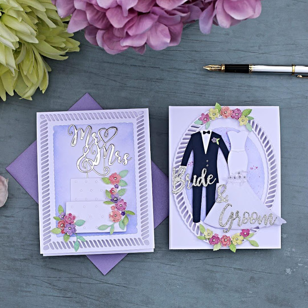 Wedding Card Ideas | Spellbinders Wedding Seasons Die Collection
