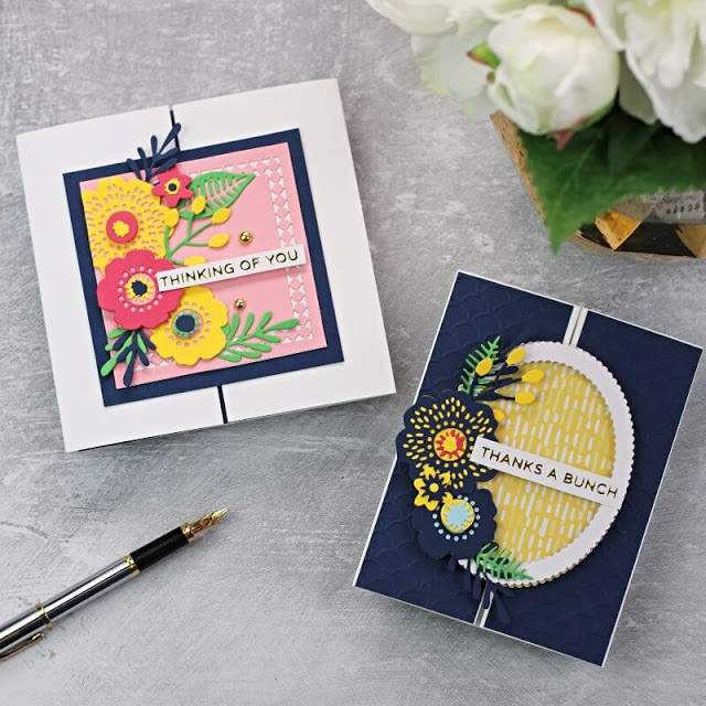 Fun Fold Slide Card Toppers + Spellbinders Kit of the Month June 2020