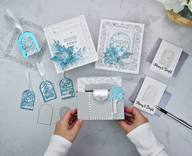 6 Projects, Ideas and tips with Tonic Studios Craft Kit 33 White Wonderland