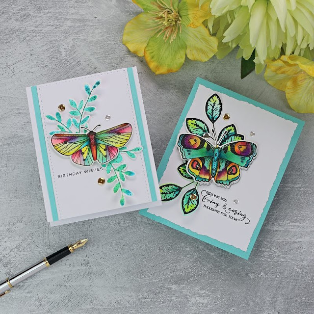 Big & Bold Butterflies by Colorado Craft + Karin Markers