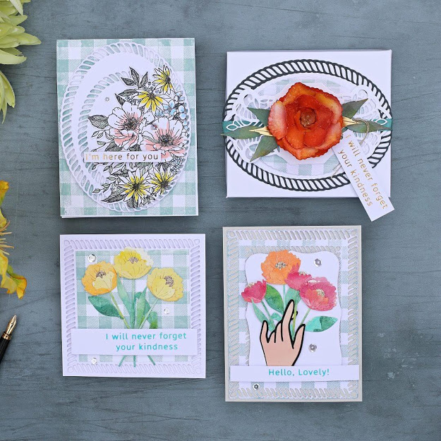 4 EASY PAPERCRAFT IDEAS  With  Elegant Twist Die Collection by Becca Feeken