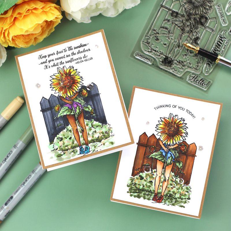 Lovely Legs Sunflowers Cards