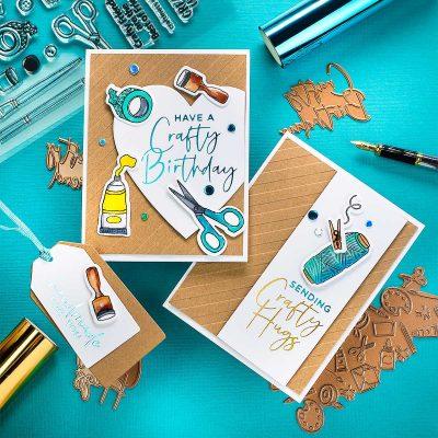 Hot Foiled Card Ideas Spellbinders Glimmer Kit August 2020