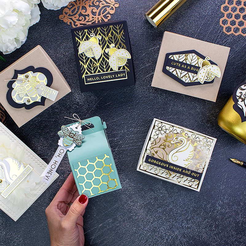 Hot Foiling Tips + 7 Projects with the New  Becca Feeken Glimmer Plates