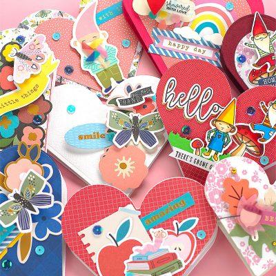 10 Heart-Shaped Easel Cards + Spellbinders Kit September 2020