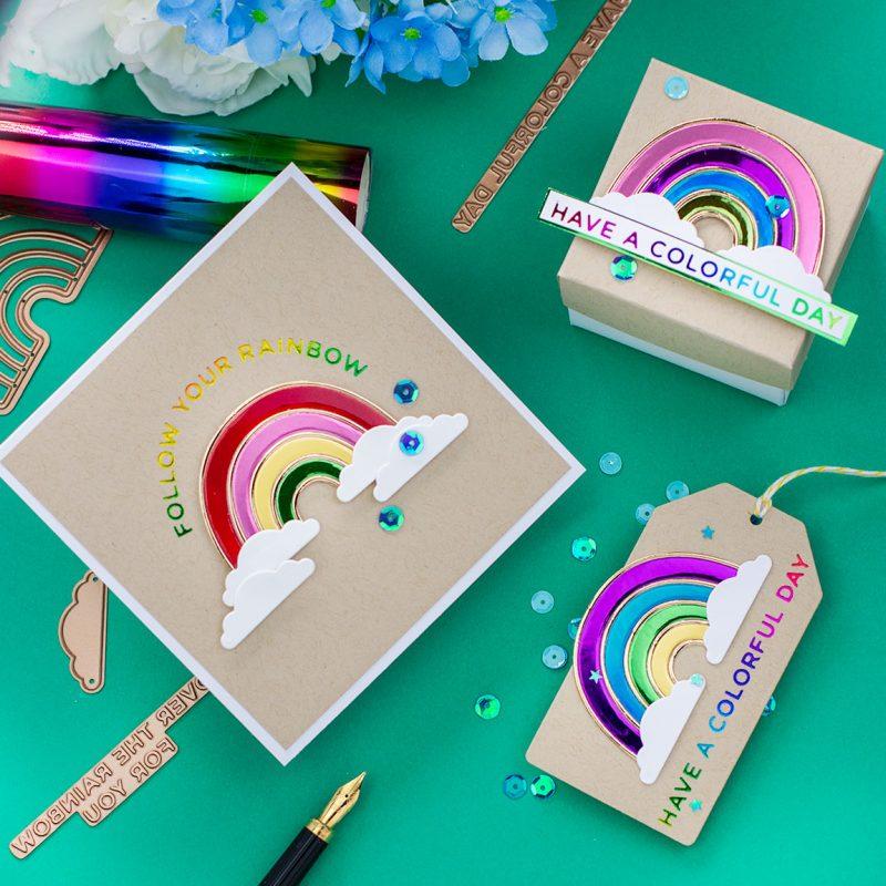 Hot Foiled Rainbow Projects Spellbinders Blog Hop September 2020