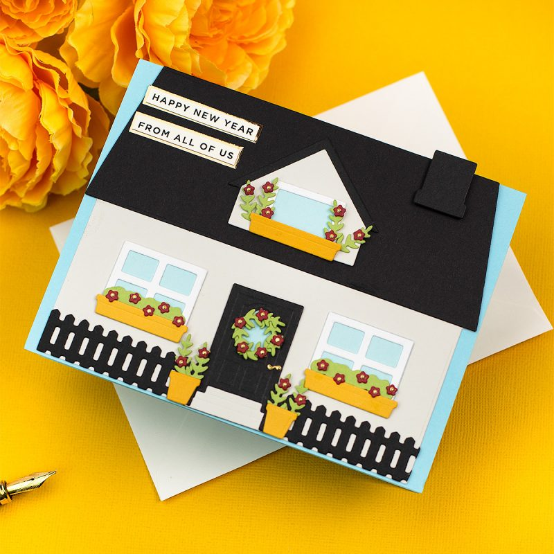 House Builder Card Base by Honey Bee Stamps