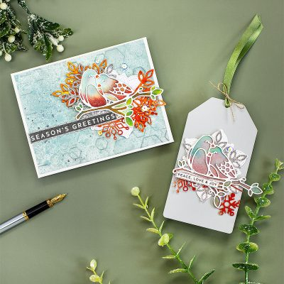 Rustic Snowflake Accents for Die-Cut Only Xmas Projects + Love Birds By Simon Says Stamp