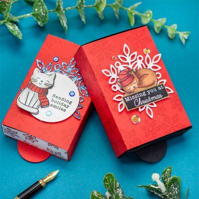 Pop-Up Gift Box Christmas Kitties Simon Says Stamps