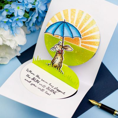 Bunny Pop- Up Card with  All-Weather Friends by Anita Jeram for Colorado Crafts Company