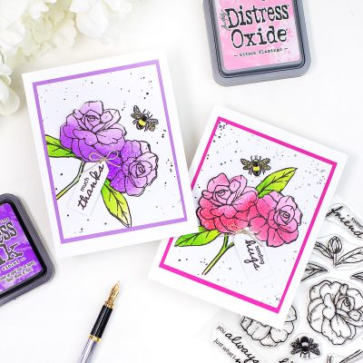 Distress Ink Colouring +Sweet Friends Stamp Set by Simon Says Stamp