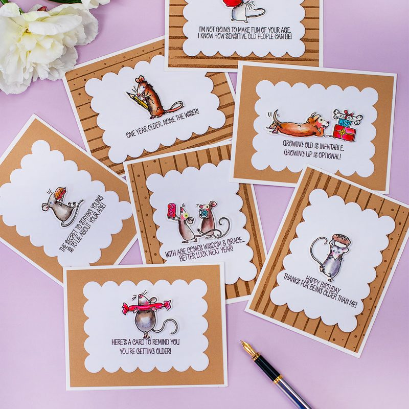 Funny Birthday Cards Anita Jeram's Mice and  Laugh Out Loud Stamp Sets