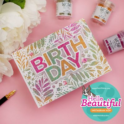 Multicolored Heat Embossing Simon Says Stamps Botanical Split Background