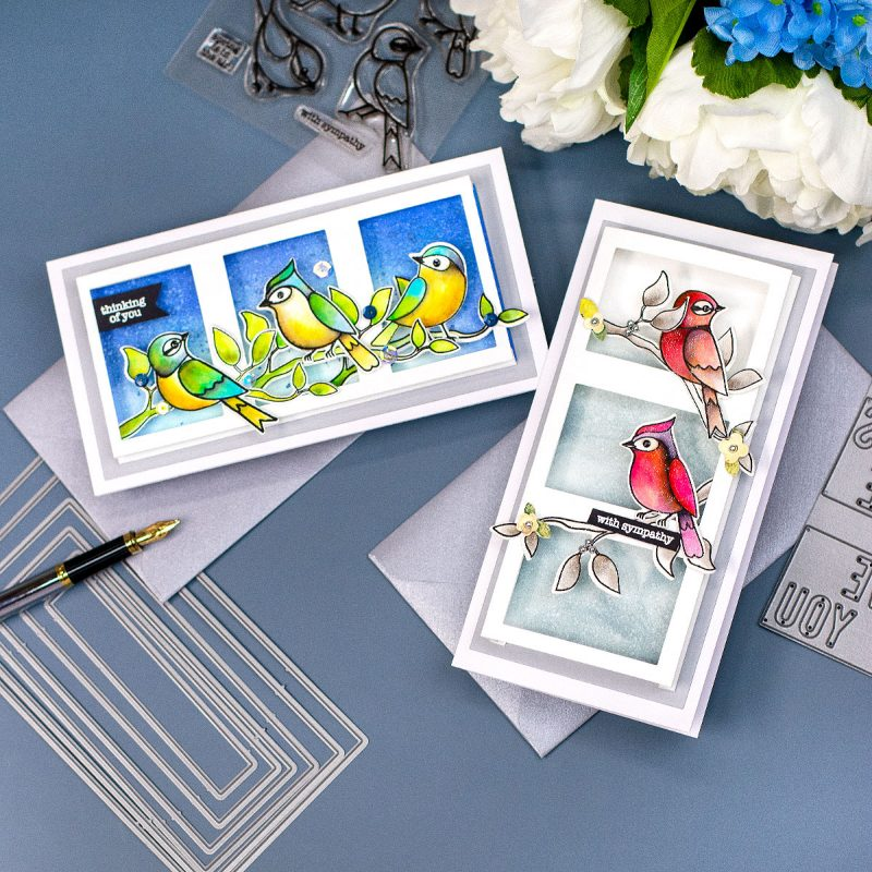 SSS All the Feels Release Blog Hop + Giveaway Fun Fold 3D Frames For Mini Slimline Cards