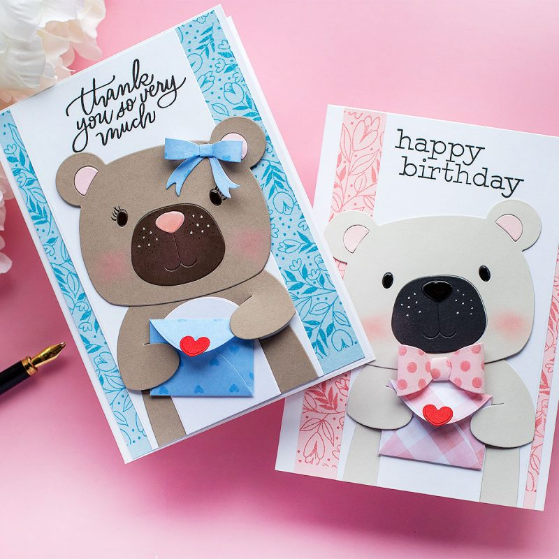 Teddy Bear Die-Cut Cards + Picture Book Bear and Big Body Dies by Simon Says Stamp