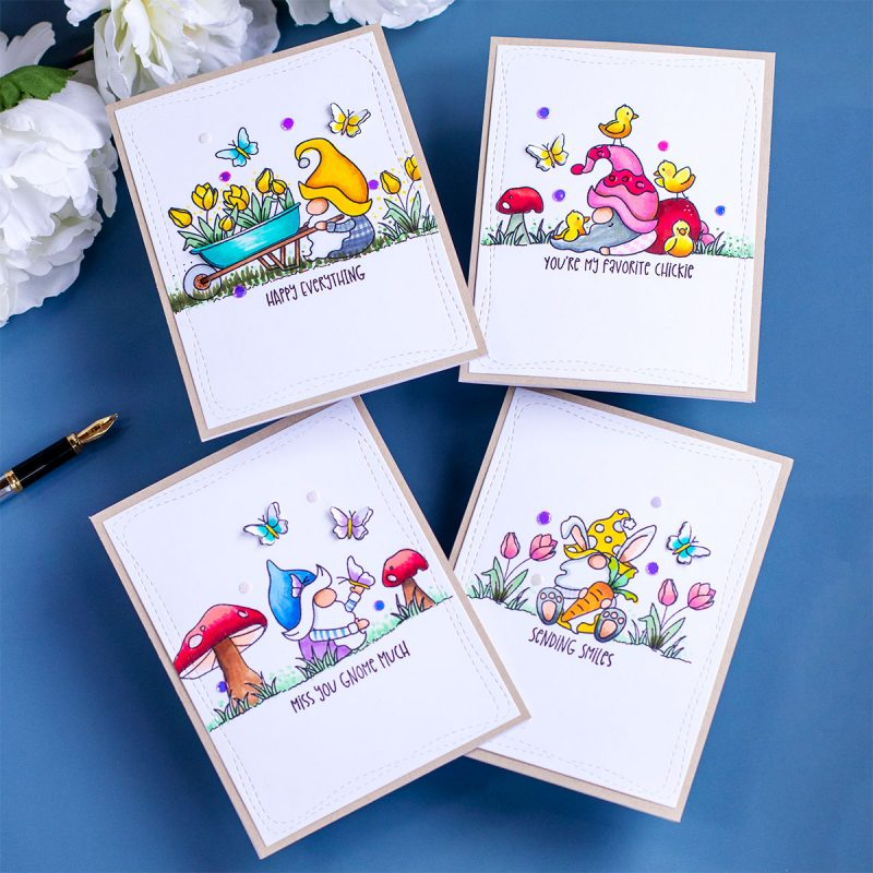 Gnome-Cards + Spring Gnomies Stamp Set by Simon Says Stamp